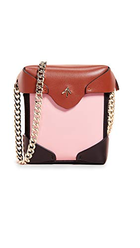 Women's Pristine Atelier Bag Bubblegum Redbole with Black Chain MANU Gold Box Micro 57UWq