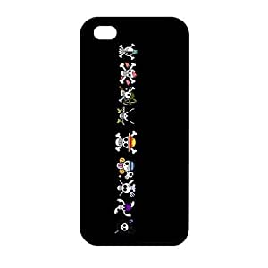 Doolin Phone Cases Cool iPhone 5 5S Casing Cover(One Piece Japanese Anime), Customize Plastic Case for iPhone 5/5s