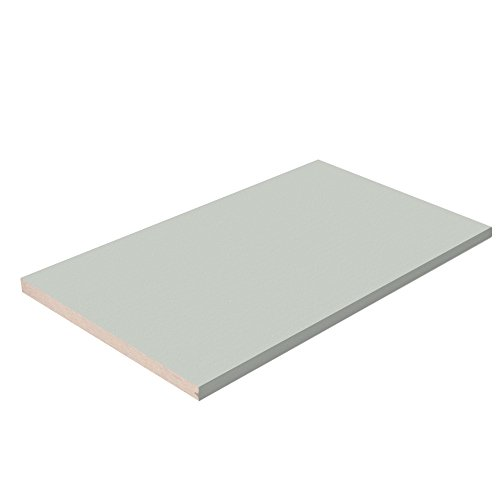 Closet Shelves with Grey T-Molding Edge Banding - Grey Melamine - Choose Your Accurate Size (1/8, 1/4, 3/8, 1/2) by TFKitchen