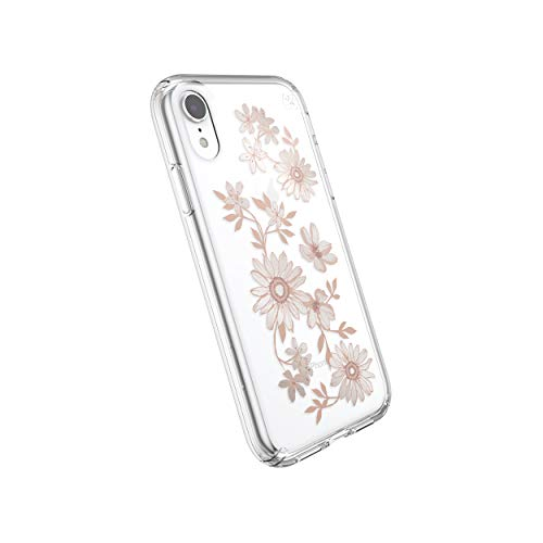 Speck Products Presidio Clear + Print iPhone XR Case, FairytaleFloral Peach Gold/Clear (Spec Phone Cases)