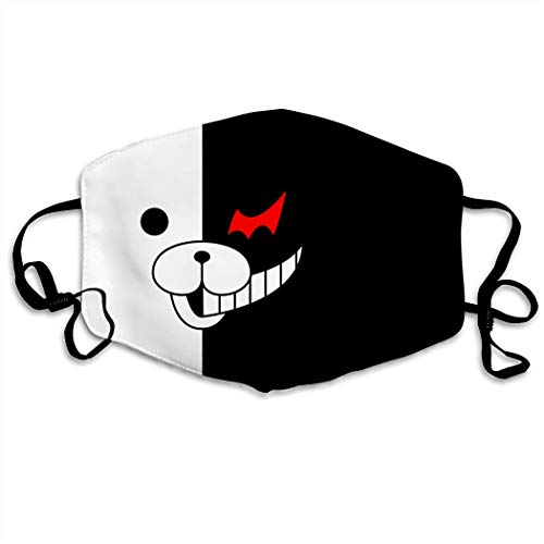 3D Print Da-n-G-an-ron-pa Mo-no-kuma Hip Hop Face Cover, Role-playing Japanese Anime Cartoon Style Face Cover, Washable…