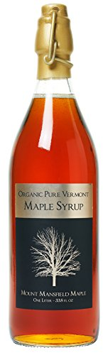 Mount Mansfield Maple Products Organic Pure Vermont Maple Syrup, 1L