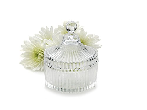 Round Glass Covered Box Bomboniere Gift or Wedding Favor from Celebrations by ()