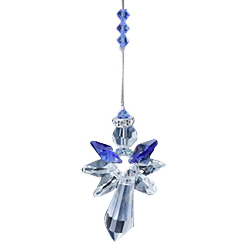 Archangel Michael Sapphire Blue Rainbow Maker Home Ornament Glass Decoration Living Room Bedroom Kitchen Car Mirror Porch Decor Figurine Hanging Crystal Suncatcher by Oh My Gosh !