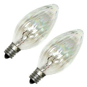 Satco 02773 - 25F10/AU S2773 F10 Decor Flame Tip Light Bulb