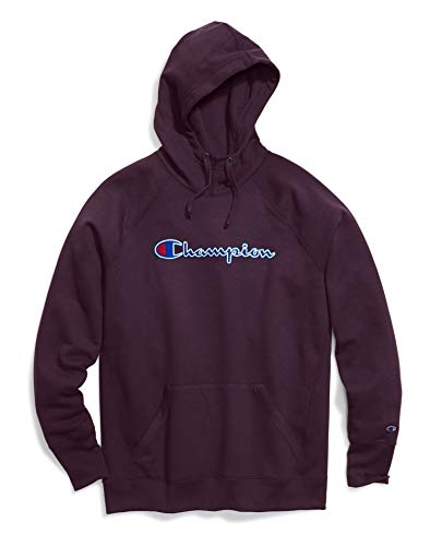 Champion Women's Powerblend¿ Fleece Pullover Hoodie - Applique Y07461 Dark Berry Purple X-Large