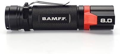 Bamff 8.0 800 Lm double DEL tactique lampe de poche Rechargeable 2600 mAh Batterie