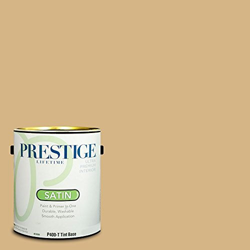 (Prestige Paints Interior Paint and Primer In One, 1-Gallon, Satin,  Comparable Match of Benjamin Moore Tawny Bisque )