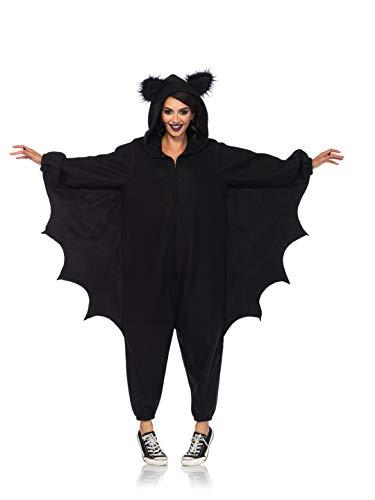 Leg Avenue Women's Bat Funsie Onesie Costume, Black, One Size
