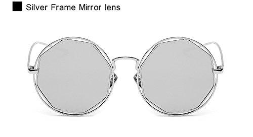 o Espejo Lente UV400 roja Eyewear de Llegada Dise Oculos Marco Sol Gafas New AO2046 Octagon Lente de Vendimia de Gafas Las Pynxn de Metal de Forma del Mujeres de Sol Espejo la qIOCxSw