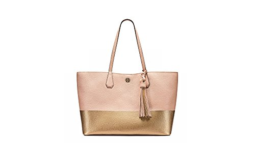 Tory Burch Perry Color-Block Leather Tote (Light - Bag Burch Tory Gold