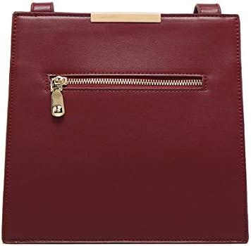 LXQ Kleine quadratische Tasche der Clutch-Handtasche einfarbig einfache Wind Metallschnalle