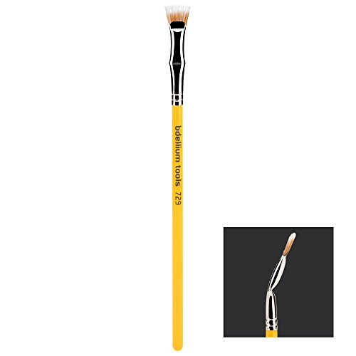 Bdellium Tools Professional Makeup Brush Studio Line - Duet Fiber Bent Mascara Fan 729