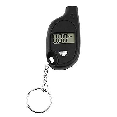 1 pc Mini Portable Porte-clés LCD Numérique De Voiture Pneu Pneu Air Jauge de Pression Auto Moto Test Outil (avec Pile Au Lithium Batterie)