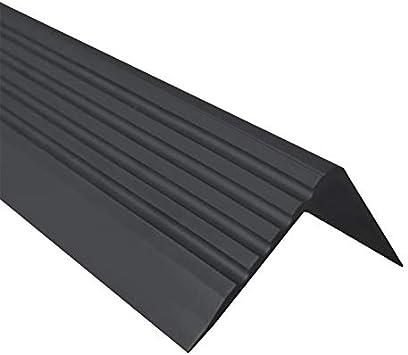 Treppenkantenprofil PVC Gummi SELBSTKLEBEND Vinyl Winkelprofil 52x40 RGPT GRAU 130CM