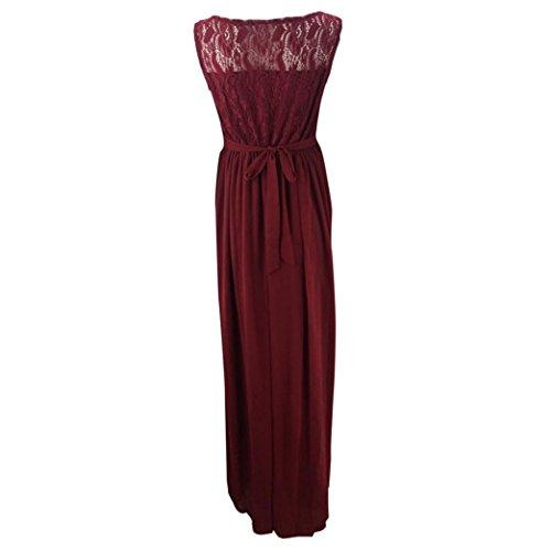 vestido vestido Borgoña Para maternidad Fotografia largo maxi Accesorios Ropa de Vestidos Las encaje embarazadas Cinnamou Mujers mujeres B0a0wv