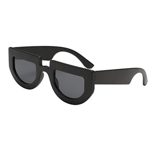 Gafas P 400 Regalo Sol Cumpleaños Planas gris negro para Mujer marco UV de Prettyia Lentes Hombre de Solar negro Protección Fiesta lente Polarizadas ppqv5gr4