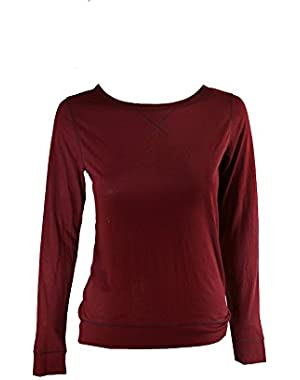 Liquid Lounge Long-Sleeve Knit Pajama Top