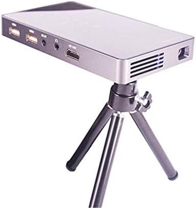 ホームシアター プロジェクター 1080P HD DLPミニスマートミニプロジェクターポータブルホームプロジェクター ゲーム機に対応 (Color : Black, Size : One size)