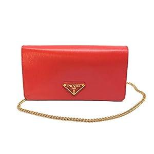Prada Bandoliera Mini Crossbody Leather Lacca Red Triangle Logo1DH044
