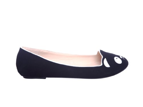 Qualsiasi Nuovo Stile !! Scarpe Basse Slip-on Da Donna Mocassini Animali Neri Nabuk