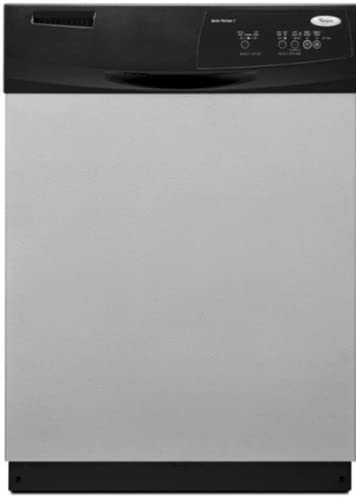 "Amazon.com: Whirlpool DU1010XTX 24"" Built In Tall Tub Dishwasher with 3  Automatic Cycles, 3 Options, Hard Food: Appliances"
