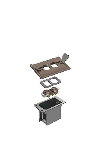 Arlington Industries FLBRF101BR-1 Retrofit Electrical Floor Box with Flip Lids for Existing Floors, Brown, 1-Pack by Arlington Industries (Image #1)