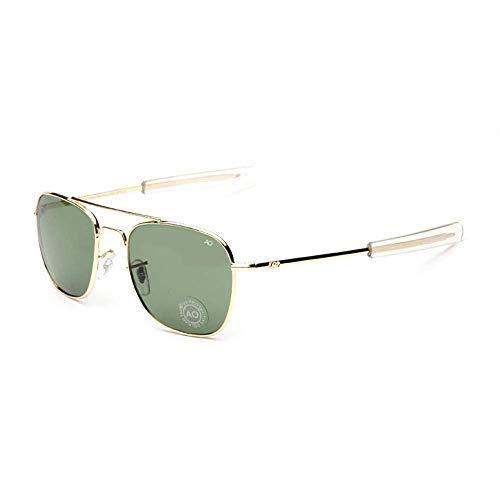 Ksone Army Military AO Pilot Sunglasses Brand American Optical Glass Lens Sun Glasses