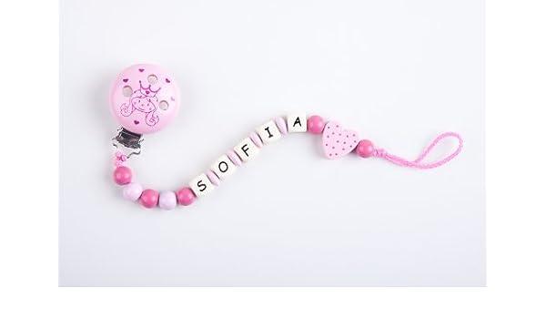 Perle infantil – Cadena para chupete con nombres Sofia – Princesa niña – Mano: Amazon.es: Bebé