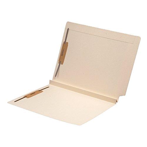14 pt Manila Folders - Full Cut 2-Ply End Top Interlock Tab - Letter Size - Fastener Pos #1 & #3 - 1-1 2