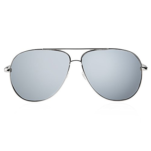 gafas UV400 metal de Steampunk sol hombres vuelve Sunglasses sol Brown TL sesgada silver de Aviador gafas en de guía zOaxw8q