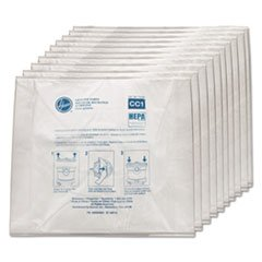 Hoover Commercial AH10363 Disposable Vacuum Bags Hepa CC1 10/Pack by Hoover Commercial