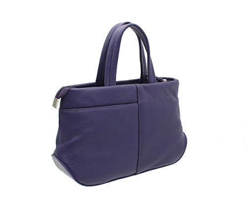 Azure Soft Leather With Shoulder 81 Grab Strap Purple 783 Bag Mala Collection CqwYd5wt