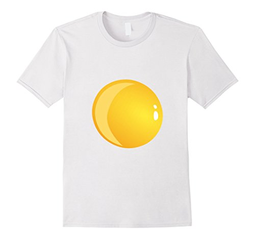 Bacon And Egg Costume Diy (Mens Deviled Egg Fried Egg Halloween Costume T-shirt Medium White)