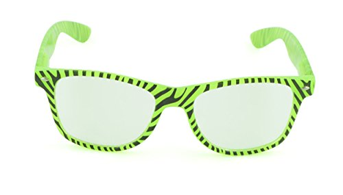 Belle Donne - Unisex Cool Rave Style Glow in the Dark Sunglasses- Green - Wiley Sunglasses Discount X