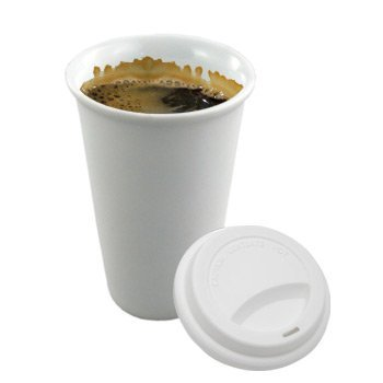 SafePro 100 Sets 12 oz Paper Cups, Coffee Cup Disposable White Hot Cup with Cappuccino LIDS