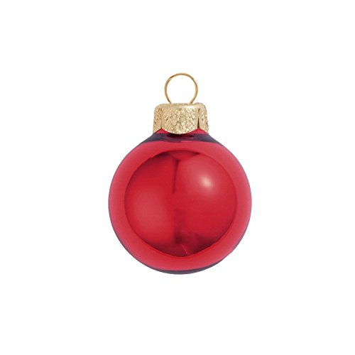 Red Shiny Ball (6ct Shiny Cherry Red Glass Ball Christmas Ornaments 4