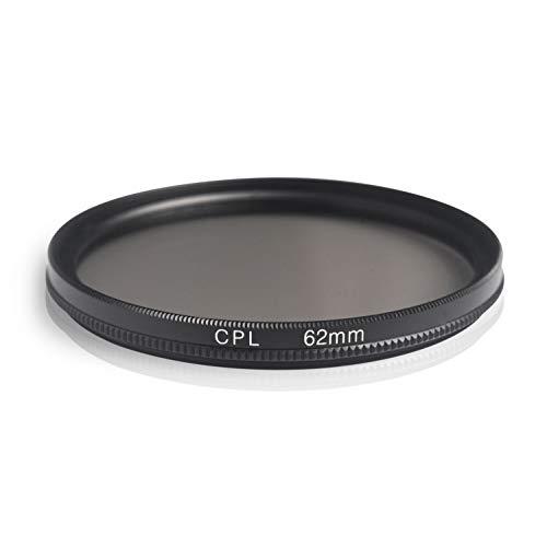 Ares Foto® Filtro de polarizacion Circular. Circular Polarizing Filter. Fabricado en Aluminio y Vidrio optico. para Canon Sony Nikon Fujifilm Pentax Tamron Sigma Leica Olympus Panasonic (62mm)