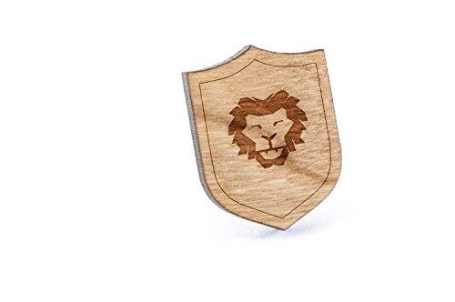 Pin Head Lion (Lion Head Lapel Pin, Wooden Pin)