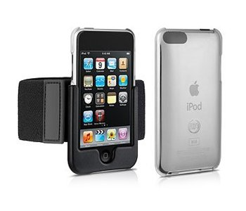 DLO DLA67501D/17 SlimShell Sport Hardshell Case + Removable Armband for iPod Touch 3G and 2G - Dlo Surface Shields