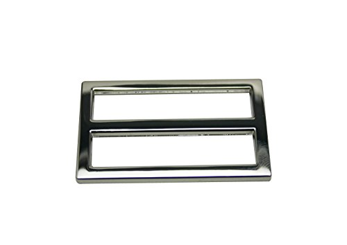 Generic Metal Silvery Rectangle Buckle with Fixed Bar 1.5