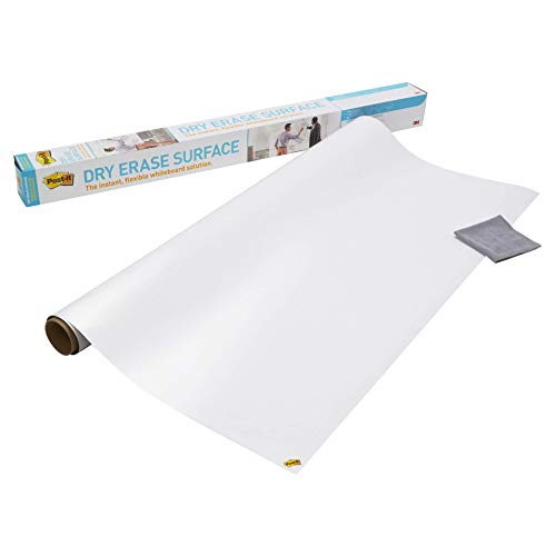 Post-it Whiteboard Film (2ftx3ft) - Easy to Install and Stain Proof Dry Erase Film by 3M