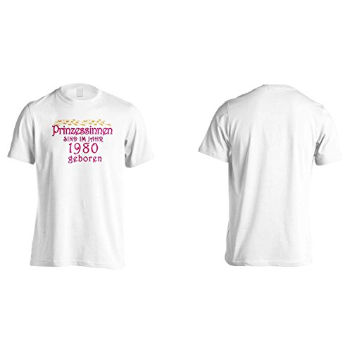 Prinzessinnen sind im jahr 1980 geboren Herren T-Shirt cc6m