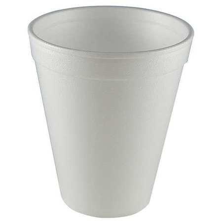 Wincup Foam Cups - Disp. Cold/Hot Cup, 12 oz., White, PK1000