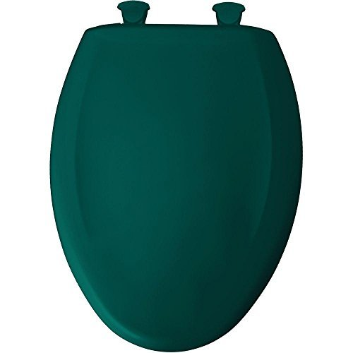 Bemis 1200SLOWT 655 Slow Close Sta-Tite Elongated Closed Front Toilet Seat, Teal by Bemis