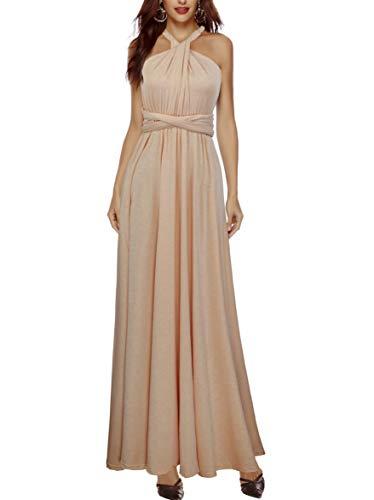 PERSUN Women's Convertible Multi Way Wrap Maxi Dress Long Party Grecian - Maternity Wrap Jersey Dress