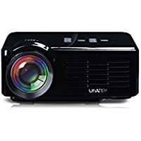 Uhappy U35 Office and Home Use 640480 Resolution 16770k Color Portable LED Mini Projector-Black