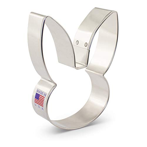 - Bunny Face Cookie Cutter by Flour Box Bakery - 4 Inches - Tin Plated Steel