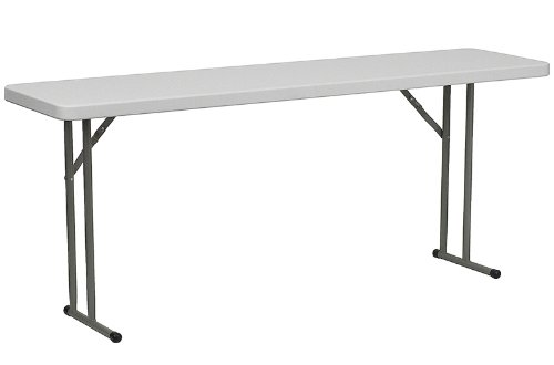 Flash Furniture 18''W x 72''L Granite White Plastic Folding Training Table