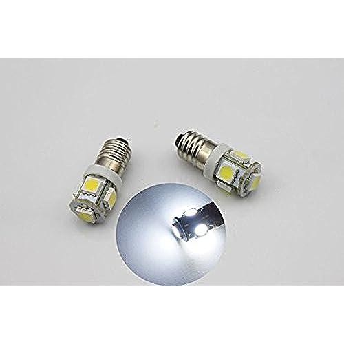 4pcs Ampoule à LED Intérieur de voiture moto Vis E106V, 6500K couleur blanche (Paquet de 4)